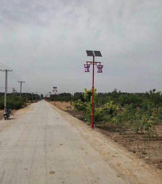 石家庄藁城周辛庄村太阳能路灯安装完工